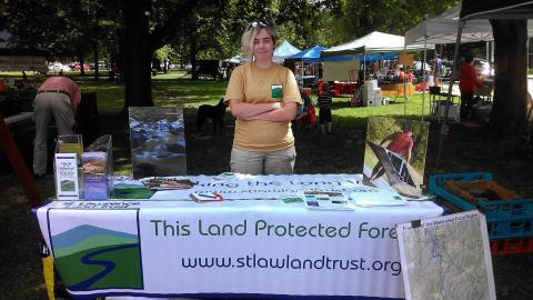 Jacky Ryan Tabling at the Canton Farmers Market